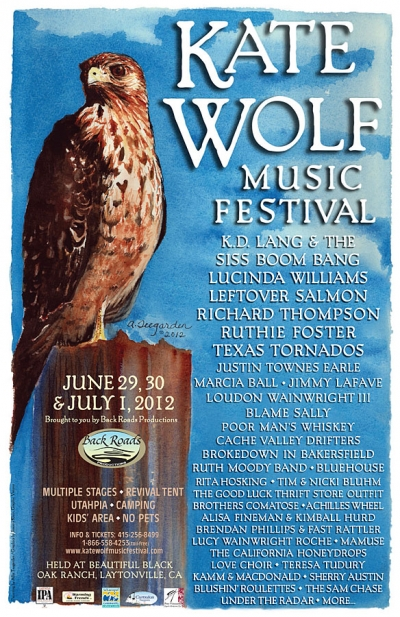 2012 Kate Wolf Music Festival Flyer